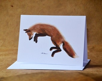 Red Fox - Greeting Card - Woodland Animal Card - With Envelope