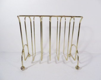 Vintage Brass Letter Napkin Holder - Mid Century Brass Napkin Holder