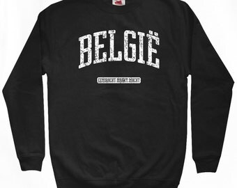 Belgie Sweatshirt - Men S M L XL 2x 3x - Belgium Crewneck - België - 4 Colors