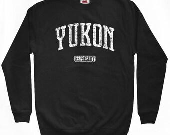 Yukon Represent Sweatshirt - Men S M L XL 2x 3x - Yukon Canada Shirt - Crewneck - 4 Colors
