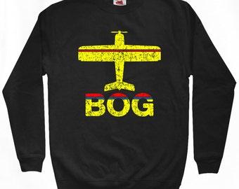 Fly Bogota Sweatshirt - BOG Airport - Men S M L XL 2x 3x - Colombia Crewneck - 2 Colors