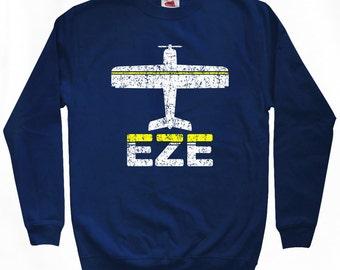 Fly Buenos Aires Sweatshirt - EZE Airport - Men S M L XL 2x 3x - Argentina Crewneck - 2 Colors