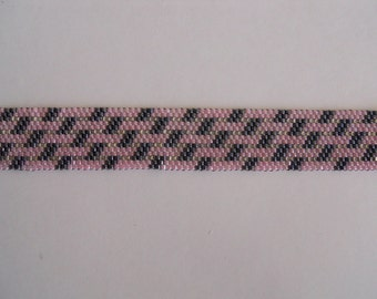 Beaded Pink and Gray bracelet
