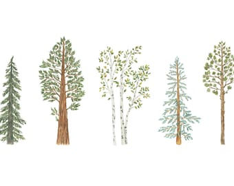 North American Tree Print