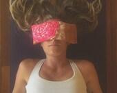 Sacred Geometry eye pillow - Organic Lavender and flax - Restorative yoga prop, perfect for Savasana