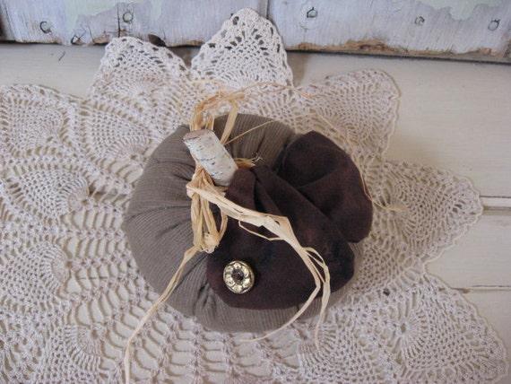 CLEARANCE SALE Pumpkin Stuffed Fall Khaki Tan Corduroy Black and Brown Marbled Bow Small Home Decor Fall Decor
