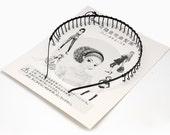 s03504 - 1 Stylish Unisex Plain Metal Hair Accessories Insert Comb Wavy Hair Hoop Iron Hair Bands, Black, 130x150mm