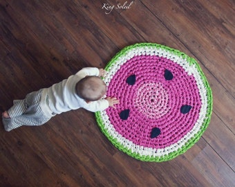 Watermelon Rug Etsy