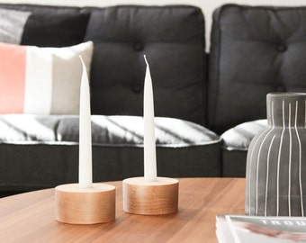 Basic Taper Holder- Minimalist Taper Candle Holders, Modern Candle Holders, Taper Candle Holders, Wooden Candle Holders
