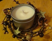 2in Cream/Ivory Pip Berry With Rustic Stars Candle Ring