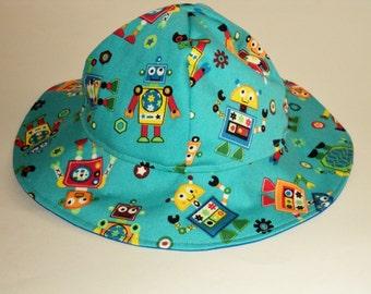 Baby Sun Hat - Baby Boy Hat - Baby Gift - Baby Boy Sun Hat - Summer Hat - Toddler Sun Hat - Boys Floppy Hat - Made To Order Newborn To 7yrs