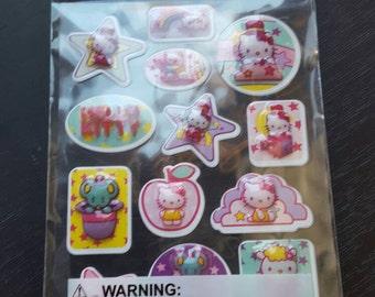 Destash Japanese Cartoon Cat Puffy Stickers