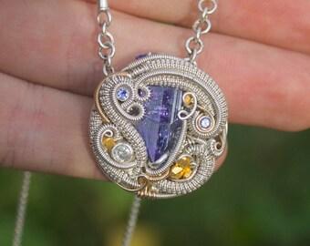 Royal Flush // Suzie B series ! // wearable art // Tanzanite jewelry // statement piece //