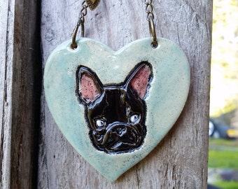 Black Frenchie Ornament - French Bulldog