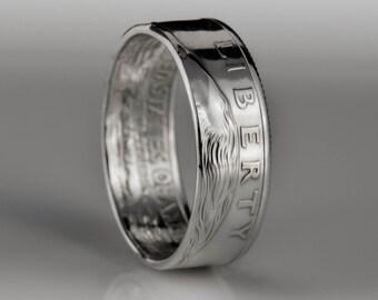 Washington Quarter - Coin Ring - SILVER (.900)