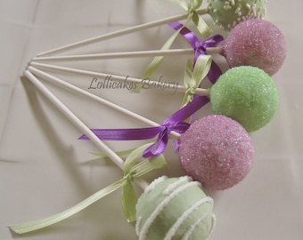 Cake Pops: Baby Shower Cake Pops Made to Order with High Quality Ingredients, 1 Dozen Cake Pops