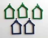 Plastic Frames Mini Managers Counted Cross Stitch Five Christmas Ornaments