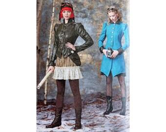 Steampunk Jacket, Costume for Women, Pattern, Simplicity 1299, Women's Halloween, Aviator Costume, Steampunk Costume, Skirt With Bustle