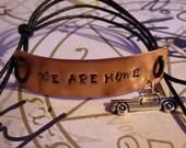 Supernatural Inspired handstamped bracelet 'We are home'