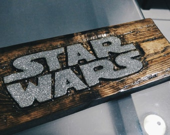 Star Wars wood carving