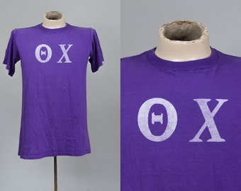 60s Fraternity Shirt Theta Chi Fraternal Club T Shirt