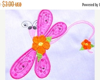 50% OFF SALE Dragonfly Applique Machine Embroidery Design 4