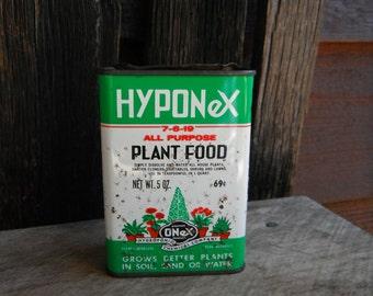 Primitive Hyponex Plant Food Tin - Garden Decor