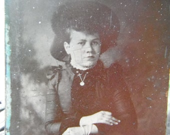 Victorian Lady Tintype Photo