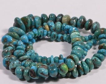 "Nevada Turquoise 16"" Strand Beads Nuggets Turquoise Beads natural Gemstone Beads Jewelry Making Supplies"