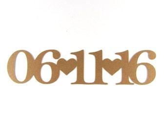 Custom Date Die Cuts Set of 15