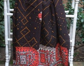 Vintage Rabari Shawl, Rabari wedding shawl,Tribal shawl, Rajasthani Shawl, vintage throw, hand made throw