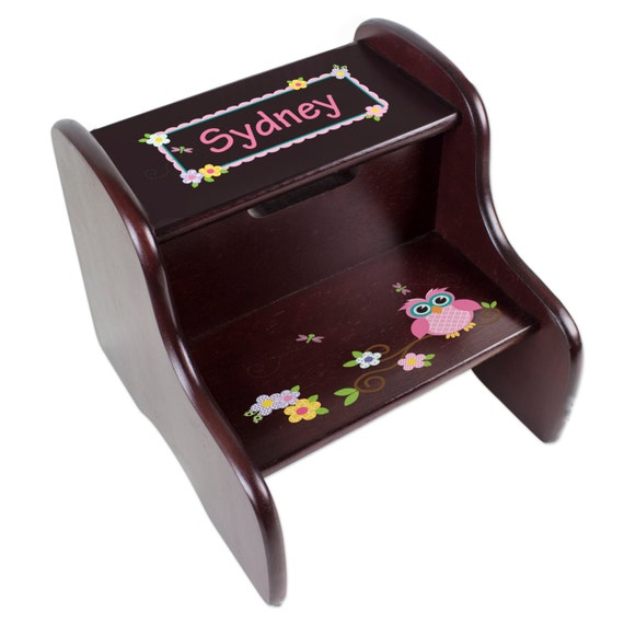 Personalized Children S Owl Step Stool For Hoot Nursery