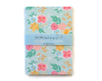 Floral Travelers Notebook - Journal - Notebook - Exercise Book  - 60 Pages