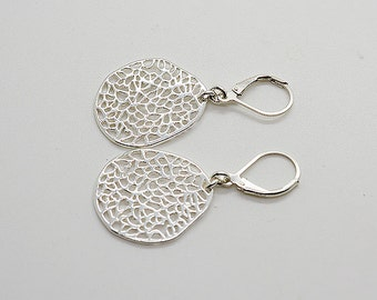 Sterling Silver Lever Back Earrings 55
