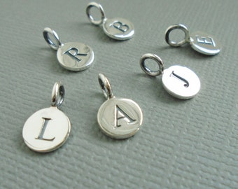 Sterling Silver Letter Initial Charms - Alphabet Charms for Prenoa Coin Necklaces