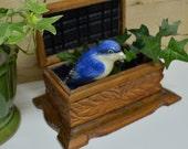 Wood Carved Casket Box / Wooden Treasure Box / Carved Jewelry Box /Trinket Box / Wiccan Storage