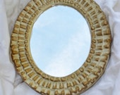 Hollywood Regency Oval Mirror / Vintage Oval Mirror / Gold Tabletop Mirror / Wall Mirror