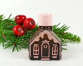 Vintage Avon Gingerbread Cottage House Perfume ...1970's Sweet Honesty......2 Available
