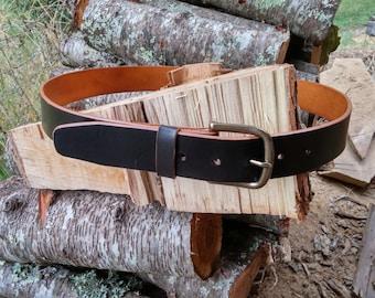 "Heavy Duty 1-1/2"" Belt 10oz.in weight - Handmade in the USA"