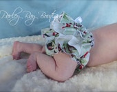 Beautiful Parley Ray Christmas/ Winter Penguins Ruffled Baby Bloomers/ Diaper Cover / Photo Props