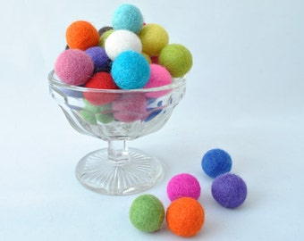 Wool felt balls - 36 pieces - 2cm - Multi-coloured