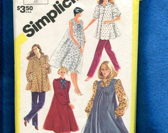 Vintage 1980's Simplicity 5665 Maternity Sun Dress Smock & Jumper Size 12 UNCUT
