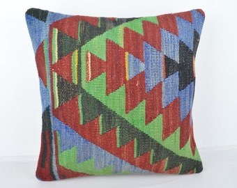 Wool Pillow, Kilim Pillow, KP1136,  Decorative Pillows, Designer Pillows,  Bohemian Decor, Bohemian Pillow, Accent Pillows, Throw Pillows