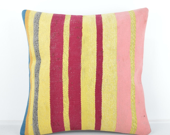 Kilim pillow, Kilim Pillow Cover k437, Turkish Pillow, Kilim Cushions, Bohemian Decor, Moroccan Pillow,  Bohemian Pillow, Turkish Kilim
