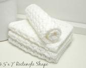 Handmade White Cotton Dishcloths - White Eco Friendly Kitchen Cloths - Set of 4