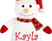 Personalized Snowman Baby Cubbie Embroidered
