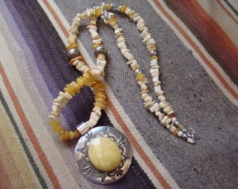 Handcrafted Sterling Silver and Butterscotch Baltic Amber Pendant with Necklace OOAK