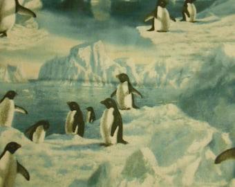 Penguin Fabric, iceberg, snow, Northpole