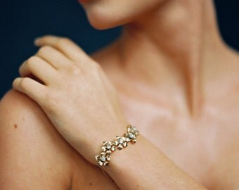 Bridal Jewelry, Flower Bridal Bracelet, Floral Bracelet, Bougainvillea Bracelet -Style 0416