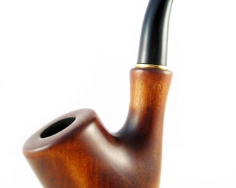 """Author Wooden Pipe  5.5"""" Collection Tobacco Pipe""""SHERLOCK HOLMS"""". Wood Pipe Hand Carved Smoking Pipe"""